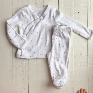 Baby gap organic star set 0-3 months